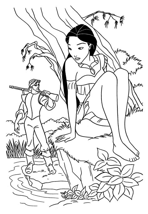 Coloring Pages For Kids Disney Princess Pocahontas Princess Pocahontas Coloring Pages
