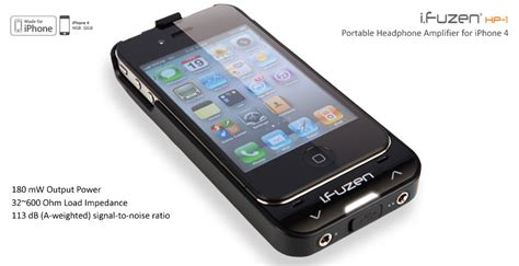 Hp Iphone auzentech i fuzen hp 1 dual headphone battery for iphone 4