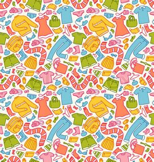 clothes pattern vector clothes seamless pattern vector colourbox