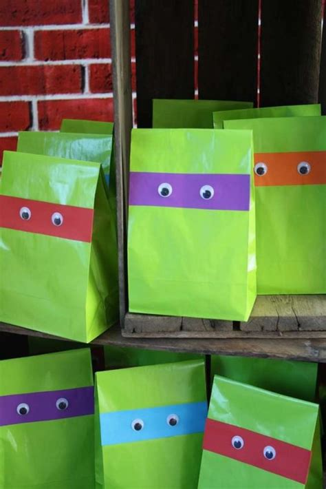 Make Your Own Paper Bags - 30 cool mutant turtles ideas shelterness