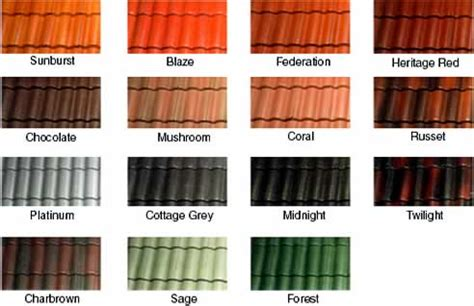 Roof Tile Colors Cement Roof Tiles From Cds Roofing