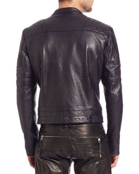 Diesel Dz4291 Gold Leather diesel black gold quilted detail leather jacket in black for lyst