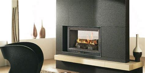 Cheminee Chazelle by Cdf800l Sided Wood Fireplace Chazelles Fireplaces