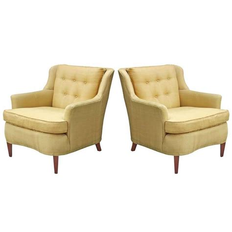 armchairs with footstools pair modern regency armchairs with ottoman for sale at 1stdibs