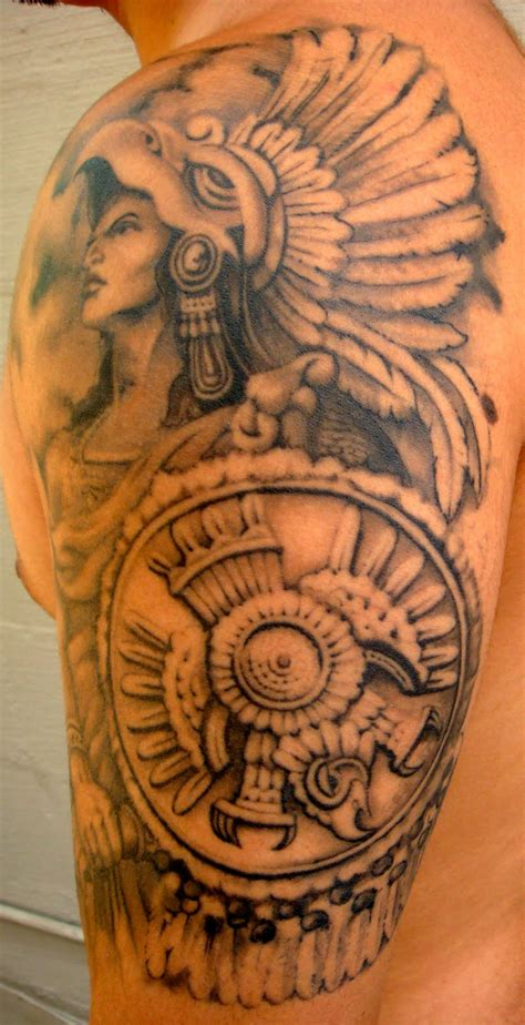 aztec warrior tattoo blindside studio the aztec warrior cuauhtemoc