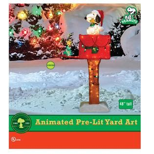 peanuts by schulz 48 quot light up animated snoopy mailbox