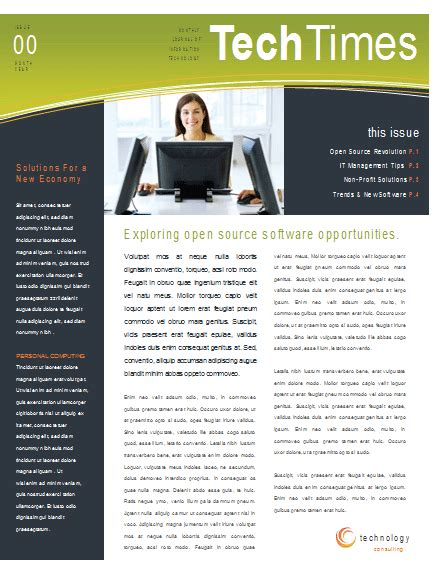Newsletter Templates Word Template Business Free Newsletter Templates For Microsoft Word