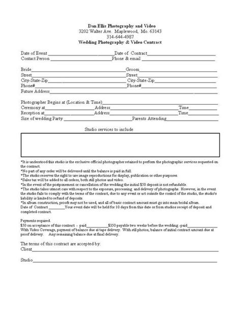 birth photography contract template wedding photography contract wedding contract click on