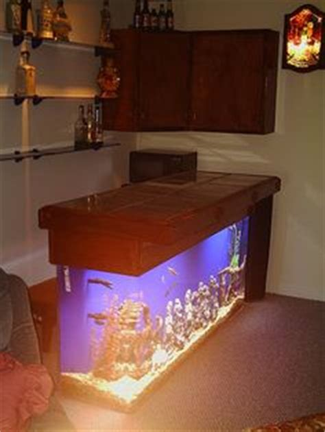 Fish Tank Bar Top by Built This Custom Bar To Fit Like A Glove Around This 55