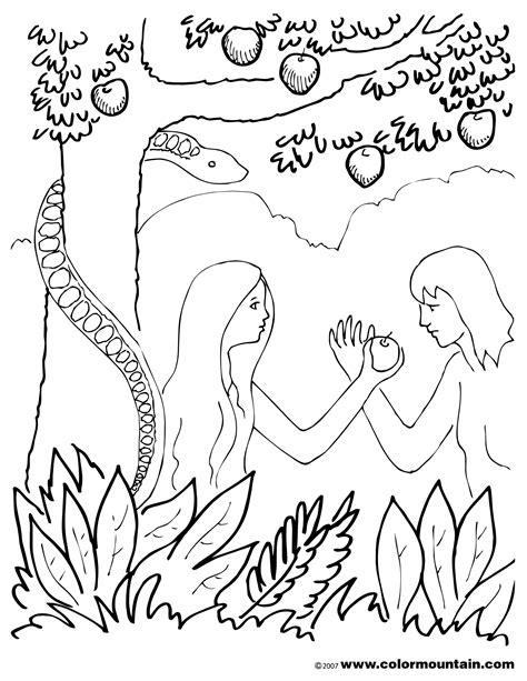 garden  eden coloring sheet create  printout  activity