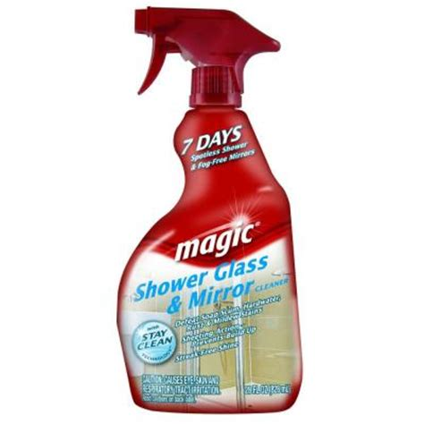 magic bathroom cleaner 28 oz shower glass and mirror trigger cleaner