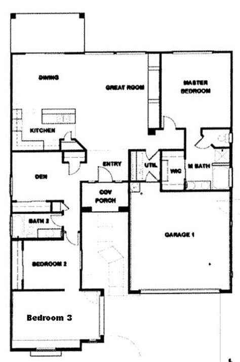 Ranch 3 Bedroom House Plans by 3 Bedroom Ranch Floor Plans Verde Ranch Floor Plan