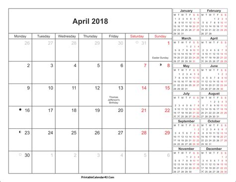 April 2018 Calendar April 2018 Calendar Printable With Holidays Pdf And Jpg