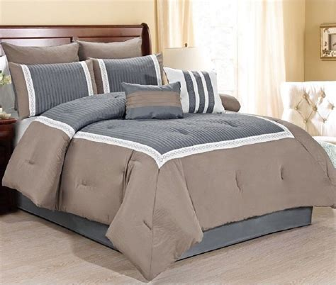 tan bedding set new luxurious 8 piece quilted comforter set king size