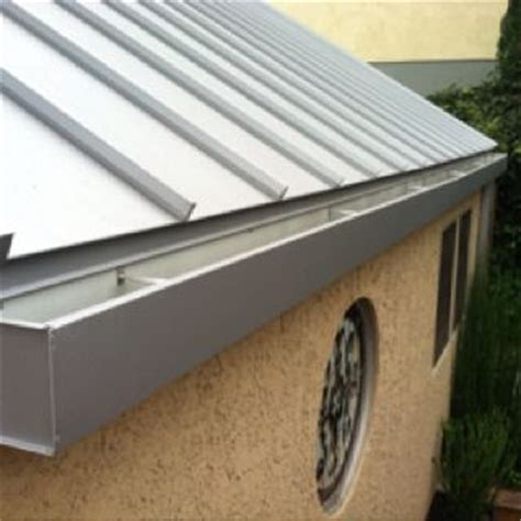 looking for 6 b 8 metal roof fabricated box gutter system standing seam metal roofing