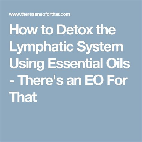 Essential Oils For Lymph Detox by Best 25 Lymphatic System Ideas On Lymph Nodes