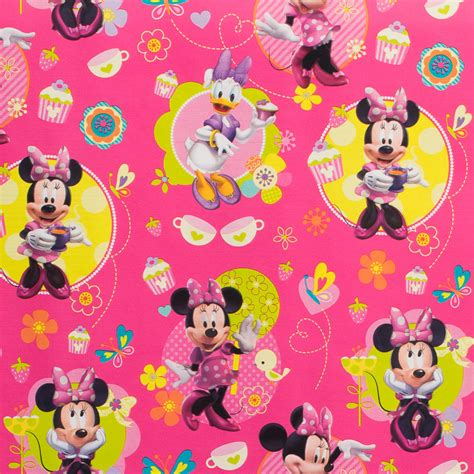 minnie mouse gift wrap b m character wrapping paper 3 metres minnie mouse