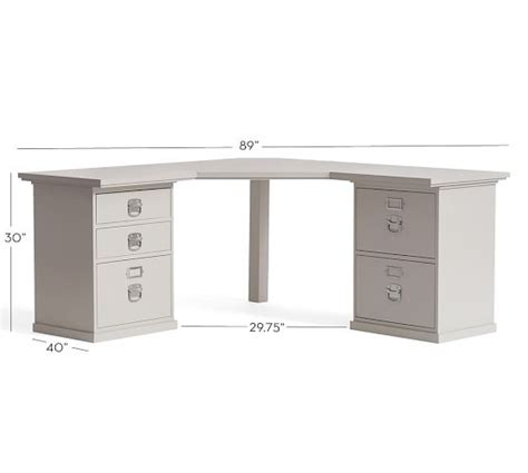 Bedford Corner Desk Pottery Barn Bedford Corner Desk Set