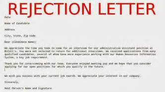 Rejection Letter For Project May 2015 Sles Business Letters