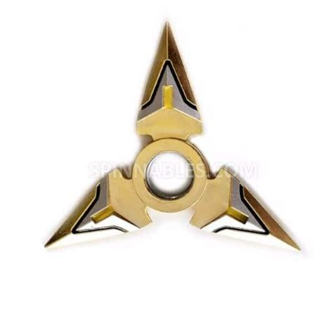 gold fidget spinner gold and silver spinnable shuiriken fidget spinner