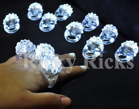 light up jelly rings 12 pcs light up white jelly rings flashing led frozen snow