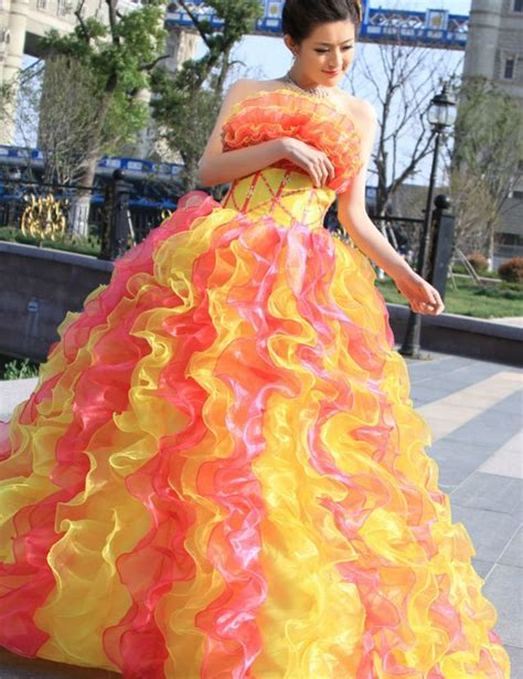 bright color dresses bright colored wedding dresses