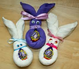 Craft and activities for all ages face cloth easter bunnies easy