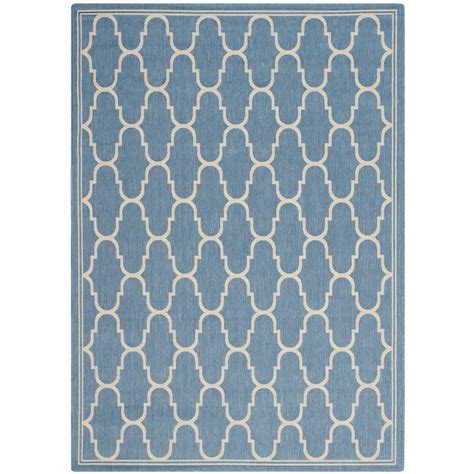 home depot outdoor rugs safavieh courtyard blue beige 8 ft 11 in x 12 ft indoor