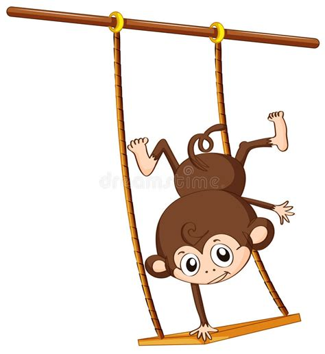 swing illustration monkey and swing stock vector illustration of