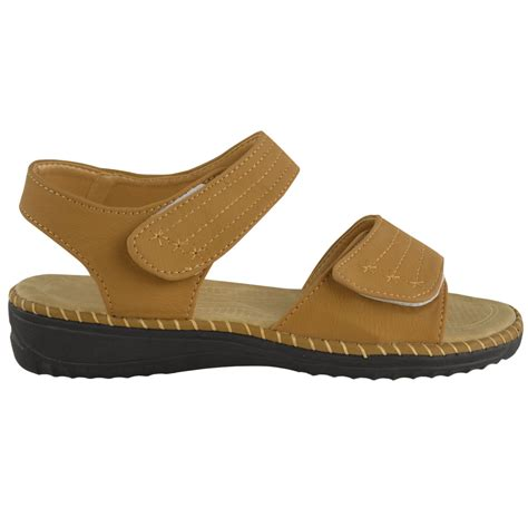 comfortable walking sandals womens velcro comfort wide casual walking flat