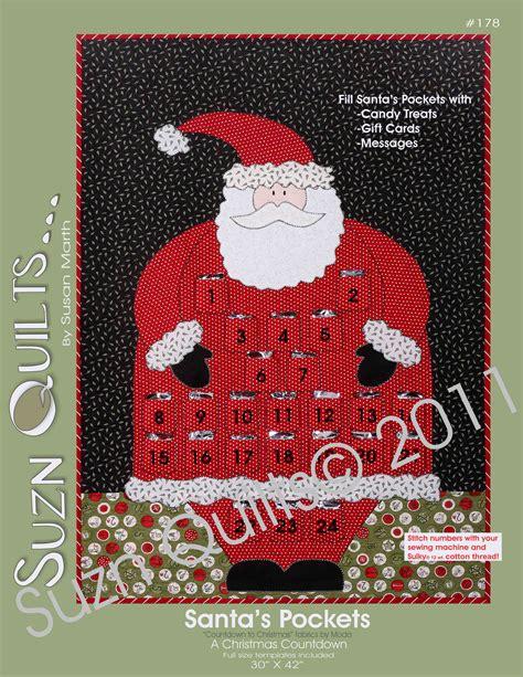 Santa Quilt Pattern by New Pattern Santa S Pockets 178 Quilting Way