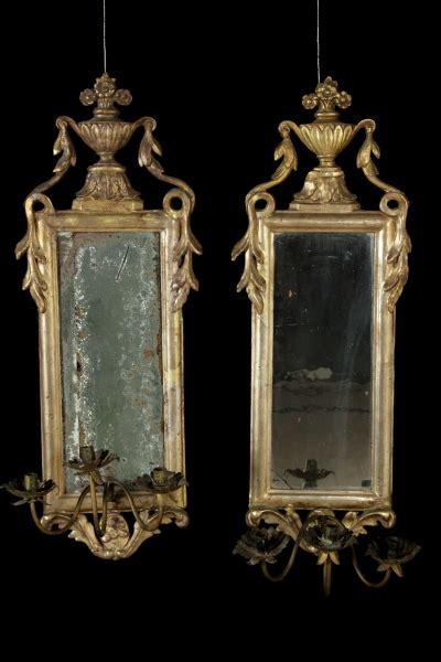 cornici e specchiere coppia specchiere specchi e cornici antiquariato