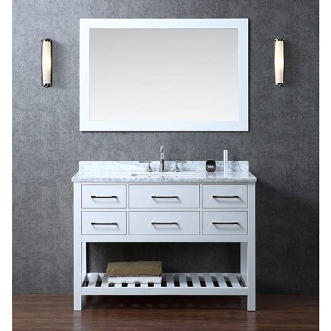 White Wood Bathroom Vanity by Buy Antonia 48 Quot Solid Wood Single Bathroom Vanity In White