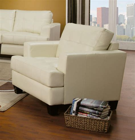 cream living room furniture samuel cream leather living room set 501691 from coaster