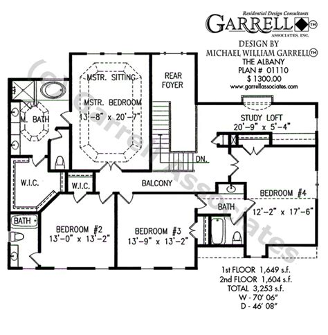 master up floor plans albany house plan house plans by garrell associates inc