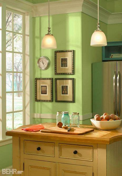 this basil chiffonade hue certainly does bring a vibe to this traditional style kitchen