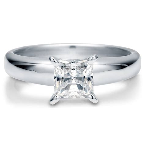 berricle sterling silver princess cut cz solitaire