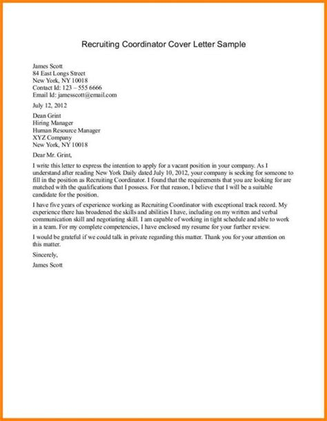 thank you letter after hr coordinator sle email to recruiter template business