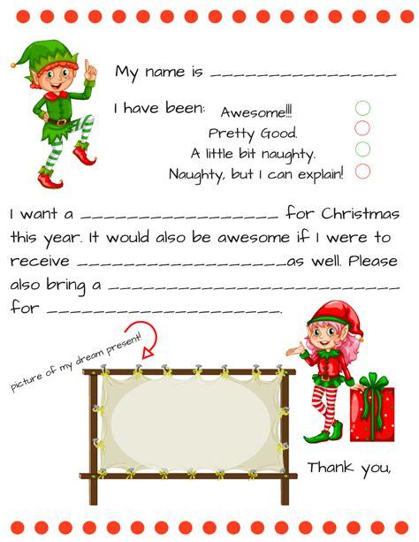 dear santa i have a printable letter for you