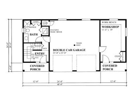 Garage Workshop Floor Plans by Garage Workshop Plans Two Car Garage Workshop Plan With