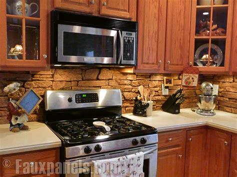 faux stone kitchen backsplash backsplashes for kitchens creative faux panels