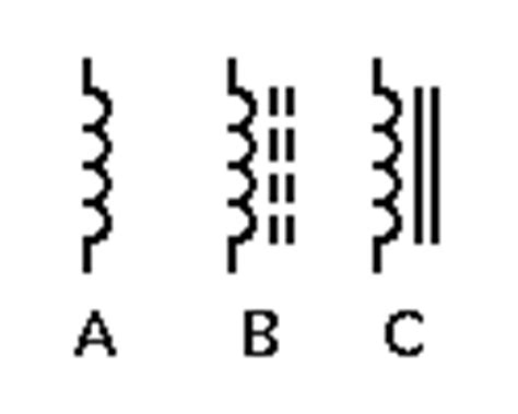 symbol for inductor circuit components the inductor