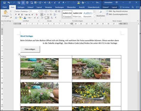 Word Vorlage Mit Makros Word Vorlage Fotos Einf 252 In Eine Mehrspaltige Tabelle Programmierer Office 365