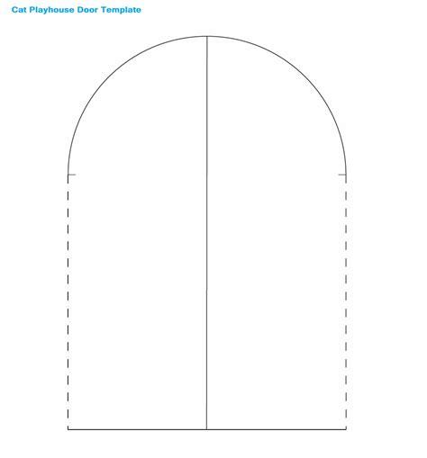 cat playhouse door stencil template picture image photo