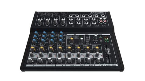 Mackie Mix12fx 12 Channel Compact Mixer With Effects mackie mix12fx 12 channel compact mixer with effects