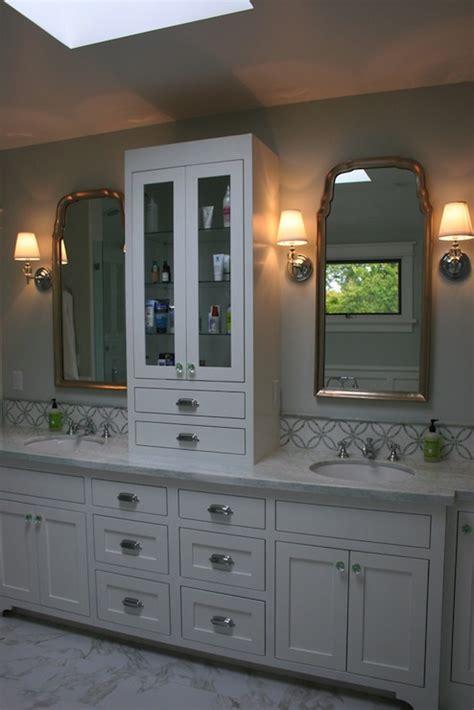 Bathroom Countertop Cabinet by Imperial Thassos Tile Transitional Bathroom Fiorella Design