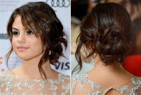 selena gomez wearing a elegant low bunchignon hairstyle 15 selena gomez hair styles
