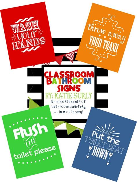 bathroom signs for classroom classroom printable toilet and bathroom sign just b cause