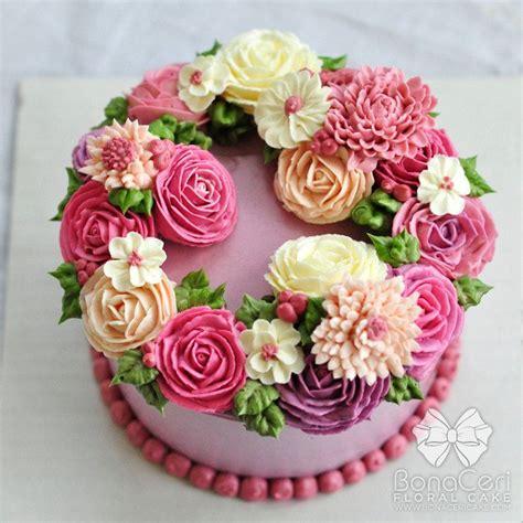 Floral Buttercream Cake   buttercream cakes   Pinterest