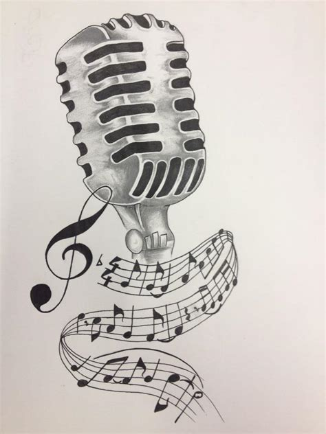 tattoo old school microphone music notes and microphone tattoo design by akadrowzy